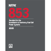 2020 NFPA 853 Standard - Current Edition