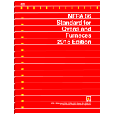 2015 NFPA 86 Standard - Current Edition