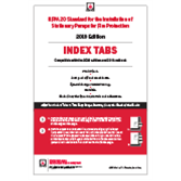 2019 NFPA 20, Stationary Fire Pumps and Standpipe Systems Self-Adhesive Tabs