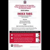 NFPA 25 Self-Adhesive Index Tabs