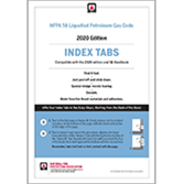 2020 NFPA 58 Self-Adhesive Index Tabs