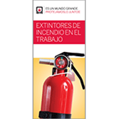 Fire Extinguishers at Work Brochures, Spanish