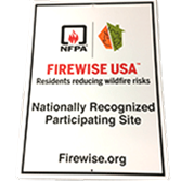 National Firewise USA Program Street Signage