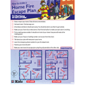 Fire Escape Planning Activity Pad