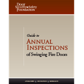 Guide to Annual Inspections of Swinging Fire Doors