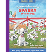 The Puppy Adventures of Sparky the Fire Dog Coloring Book (2016)