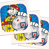 Sparky's Team Up for Fire Safety Tattoos