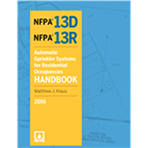 2016 NFPA 13D and NFPA 13R Handbook - Current Edition